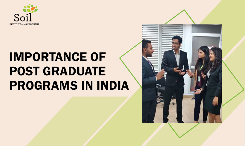 Importance of Post Graduate Programs in India