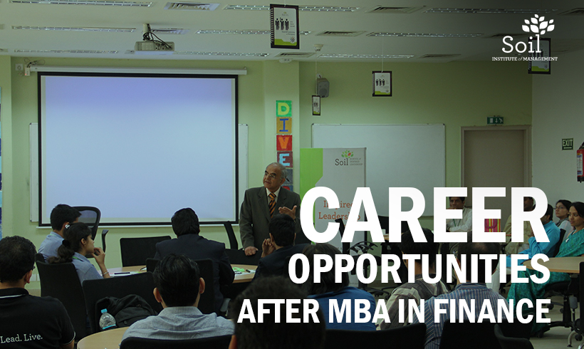Career Opportunities after MBA in Finance
