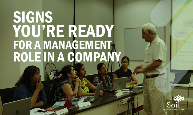 Signs you're ready for a management role in a company