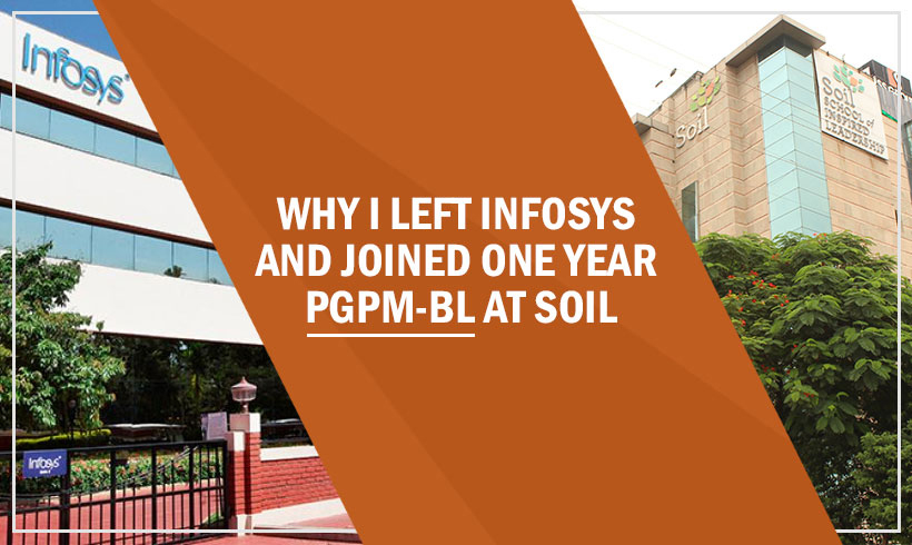 I Left Infosys To Join One of the top MBA colleges in India