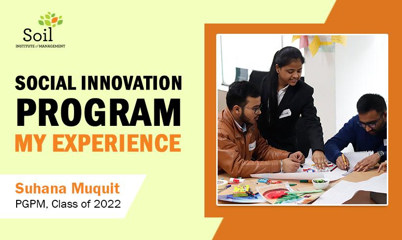 Social Innovation Program – My Experience