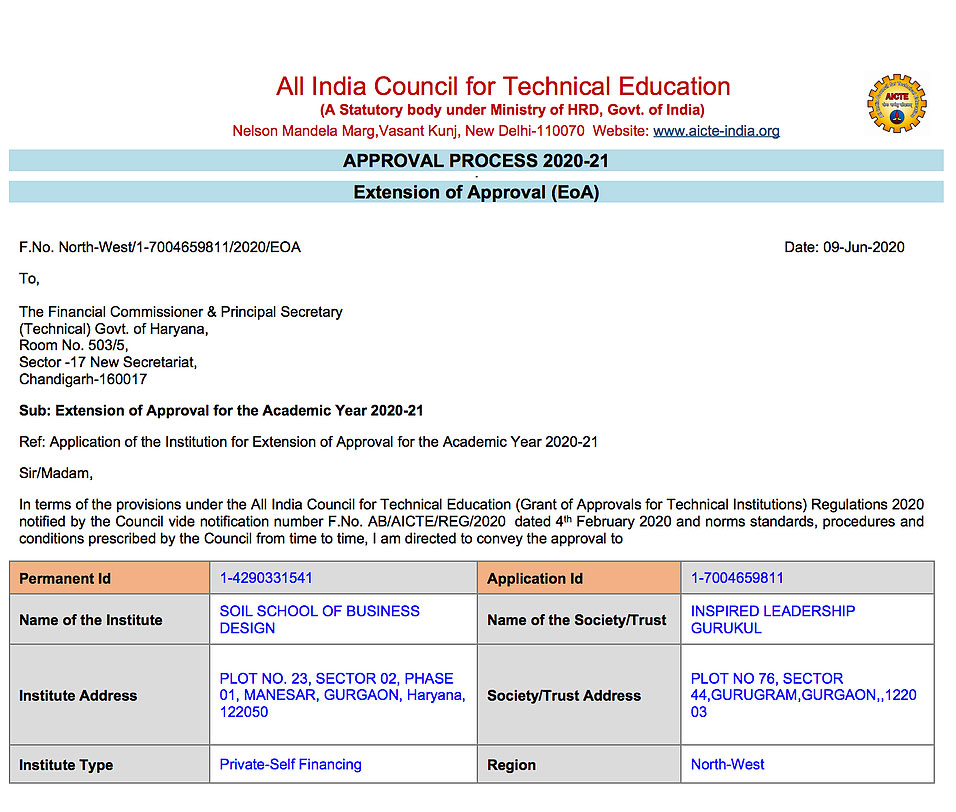 AICTE Approval Extension 2020