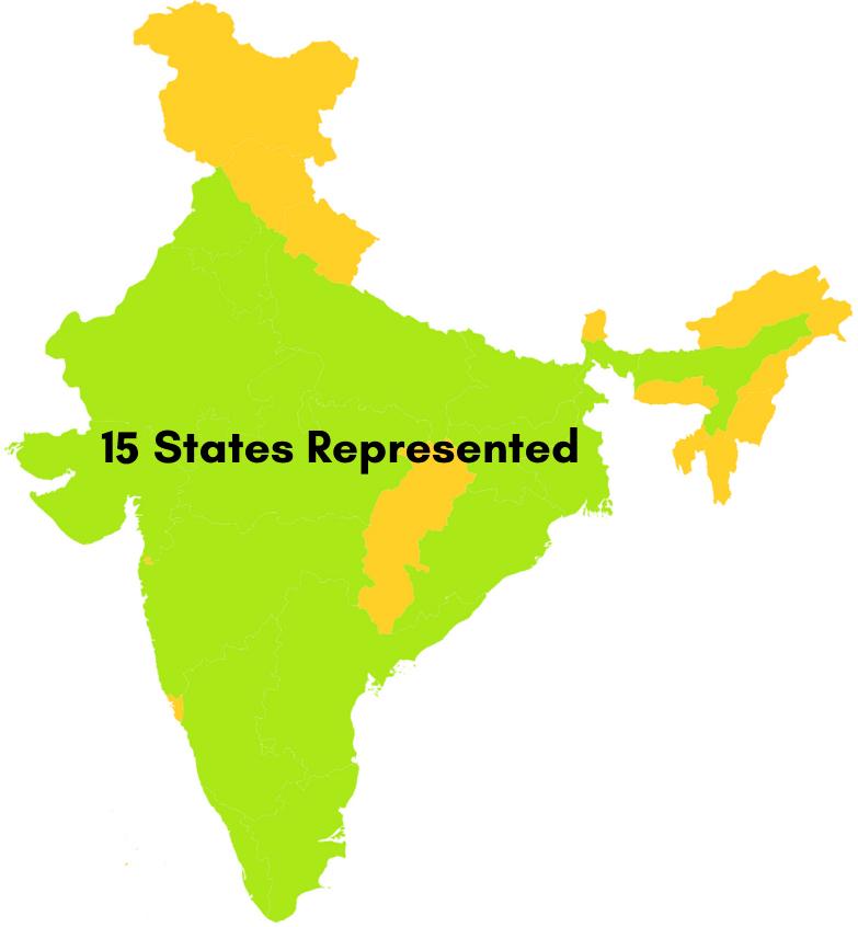 18 States Represented